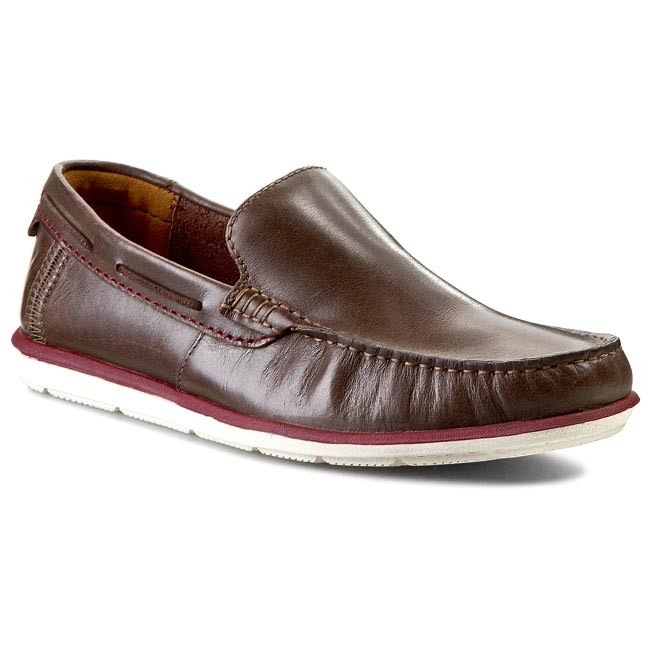 Moccasins CLARKS - Kelan Lane 261067157 Dark Brown Lea