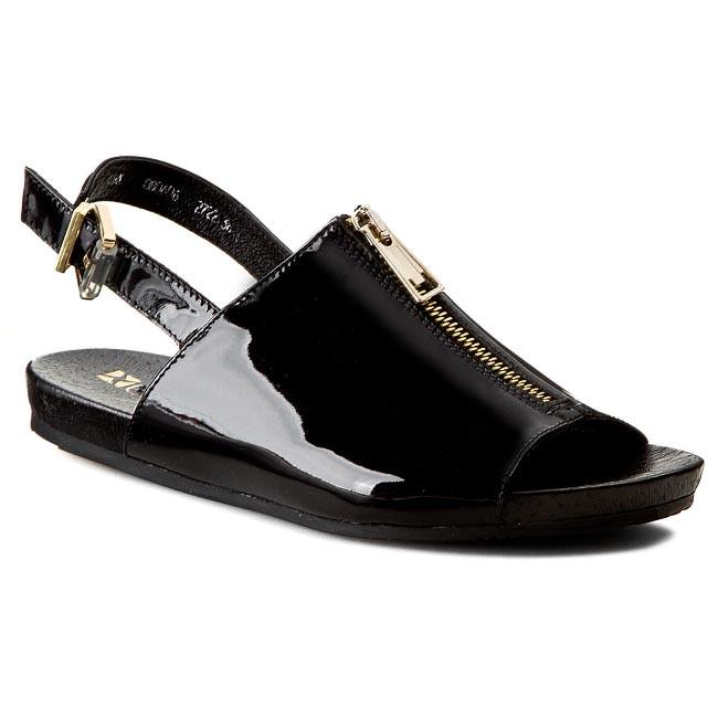 Sandals CARINII - B2722 Lakier Czarny