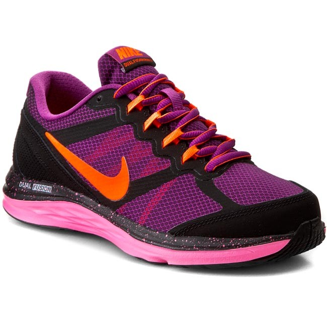 Shoes NIKE - Nike Dual Fusion Run 3 654143 502 Bold Berry/Ttl Orng/Pnk Pw Blk