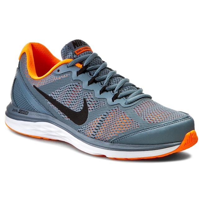 Solicitante cúbico tomar  Shoes NIKE - Nike Dual Fusion Run 3 MSL 653619 402 Bl  Graphite/Black/TTL/Orange/White - Indoor - Running shoes - Sports shoes -  Men's shoes | efootwear.eu