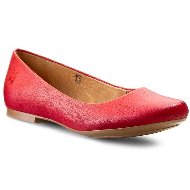 Flats MACIEJKA - SZ903-19/00-1 Czerwony Sangre