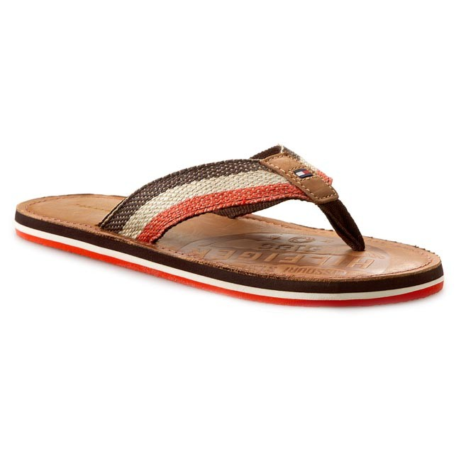 Slides TOMMY HILFIGER - Barney 5D FM56818892  Coffee/Spicy Orange 211