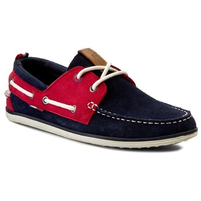Moccasins TOMMY HILFIGER - DENIM - Miles 1B-2 EM56818556 Blue Graphite/Tango Red/Off White 408
