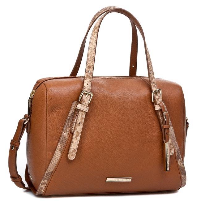 Handbag TOMMY HILFIGER - Nina Duffle BW56927474 Summer Cognac 929