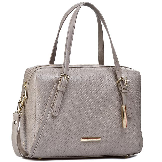 Handbag TOMMY HILFIGER - Dominique Duffle BW56927416 Moon Rock 852