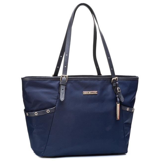 Handbag TOMMY HILFIGER - Heather EW Tote BW56927438 Midnight 403