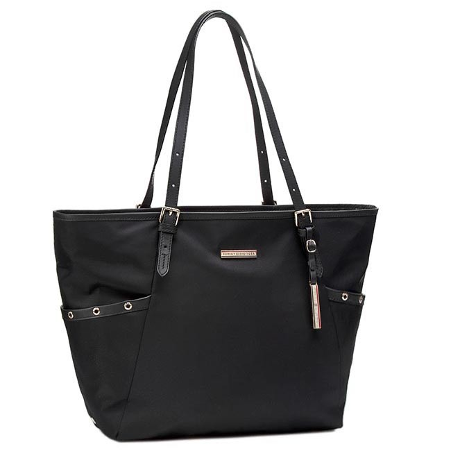 Handbag TOMMY HILFIGER - Heather Ew Tote BW56927438 Black 990