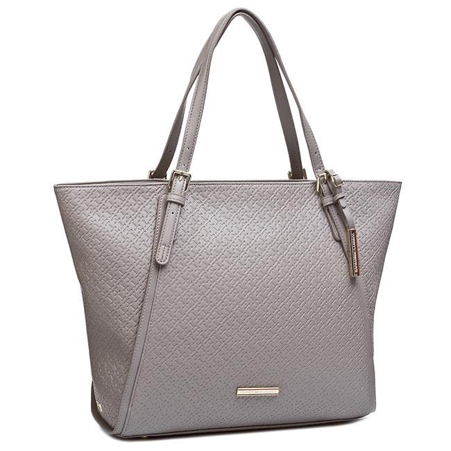 Handbag TOMMY HILFIGER - Dominique EW Tote BW56927418 Moon Rock 852