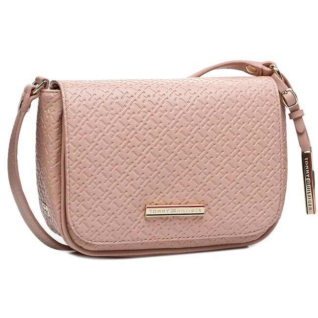 Handbag TOMMY HILFIGER - Dominique Flap Crossover BW56927419 Dusty Rose Pt 614
