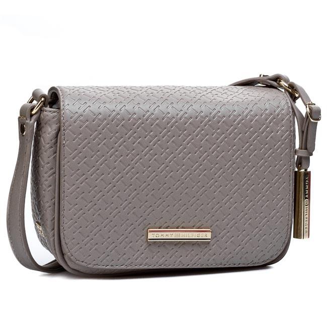 Handbag TOMMY HILFIGER - Dominique Flap Crossover BW56927419 Moon Rock 852