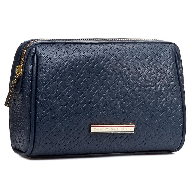 Beauty Case TOMMY HILFIGER - Dominiqe Make-Up Bag BW56927321 Midnight 403