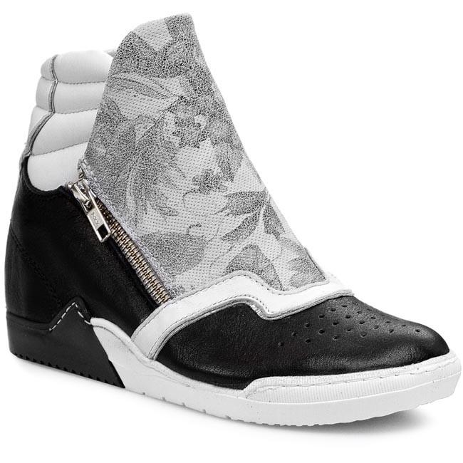 Sneakers KHRIO - 15848ANB Seta Nero/Flower Gesso