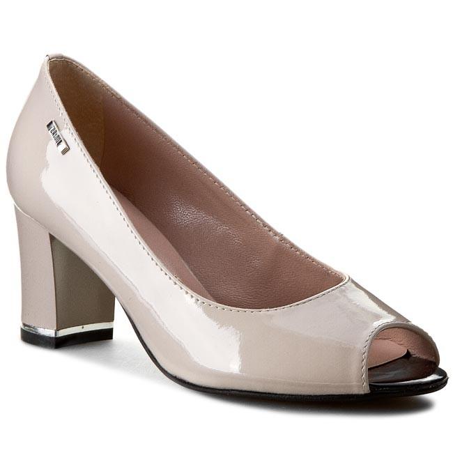 Shoes EKSBUT - 25-3422-771-1G Beż Lakier