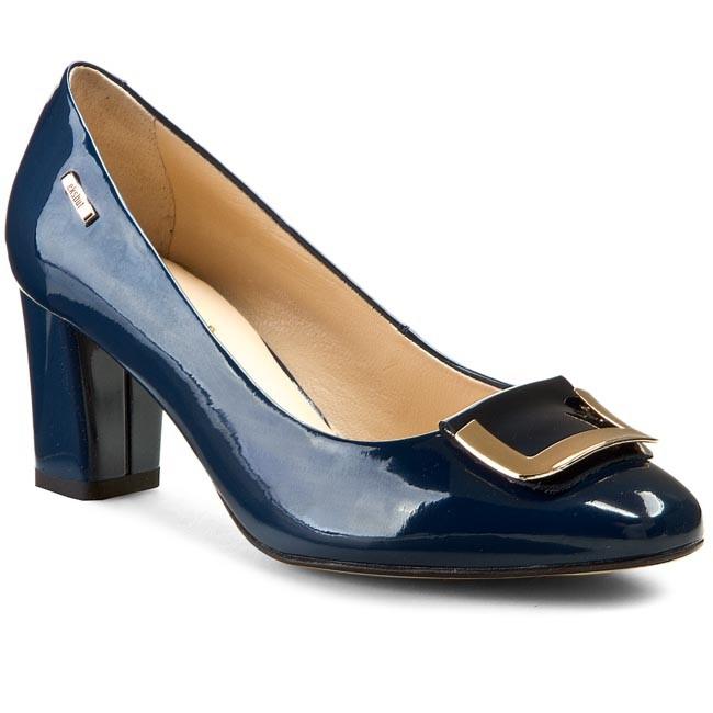 Shoes EKSBUT - 25-3464-B76-1G J.Granat Lakier