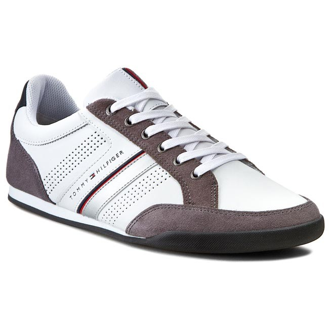 Sneakers TOMMY HILFIGER - Riley 1C FM56818999  White/Steel Grey/Midnight 100