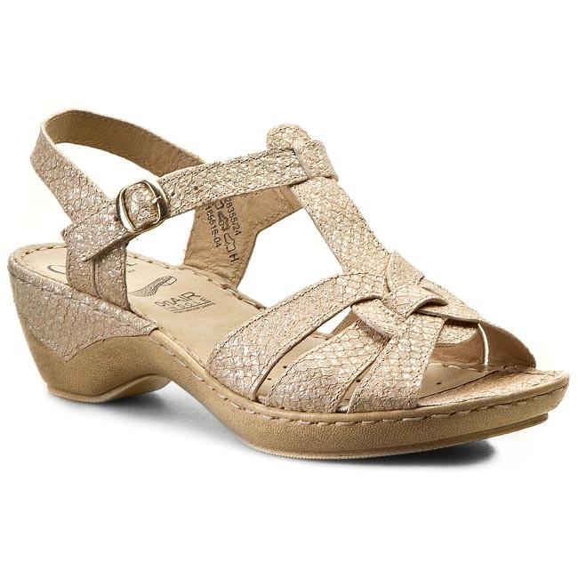 Sandals CAPRICE - 9-28355-24 Beige Met Rep 441