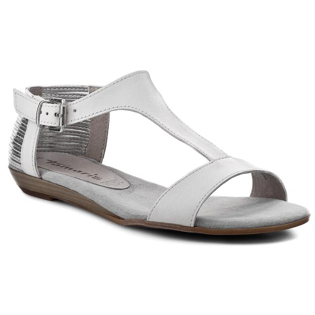 Sandals TAMARIS - 1-28105-24 White/Silver 191