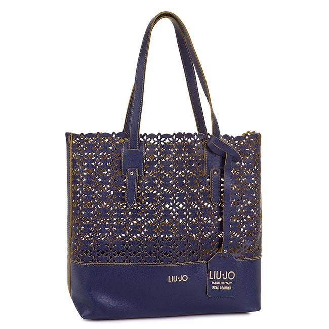 Handbag LIU JO - Shopping L Galena N15230 P0015  Midnight Blue 94027