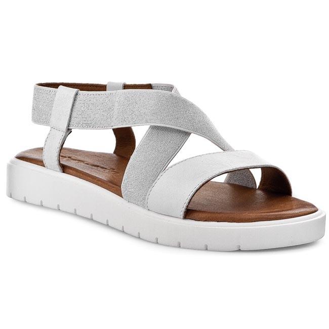 Sandals TAMARIS - 1-28602-34 White/Silver 191