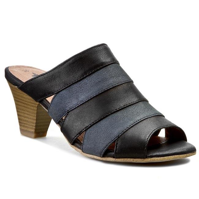 Slides TAMARIS - 1-27204-24 Black/Navy 051