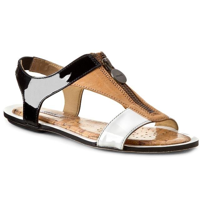 Sandals GEOX - D Sweetness B D42L7B 066SE C9243  Black/Lt Brown