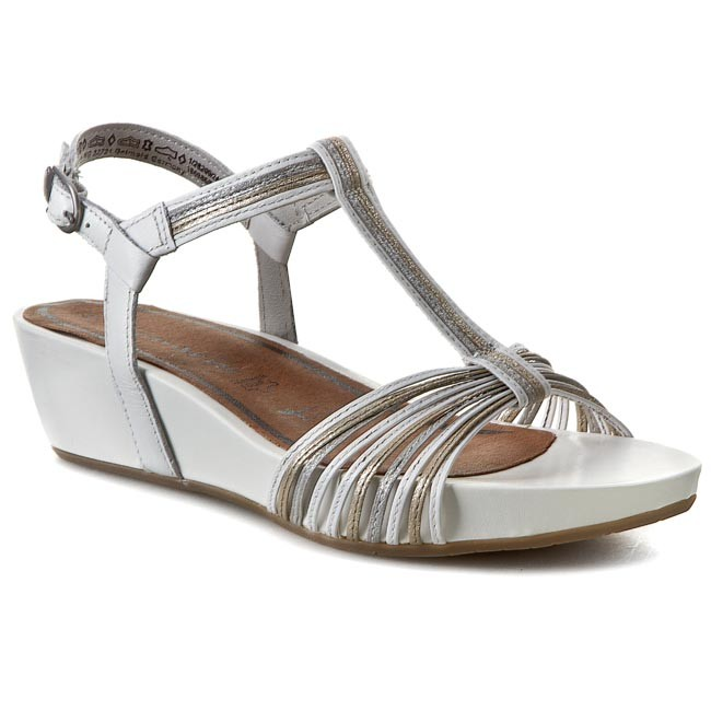 Sandals TAMARIS - 1-28209-24 White Lea Comb 106