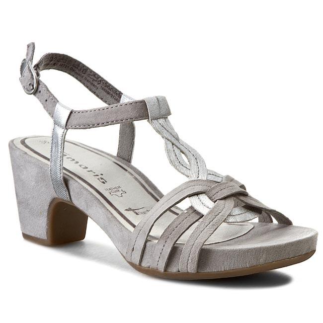 Sandals TAMARIS - 1-28327-24 Quartz/Sil. Str 298
