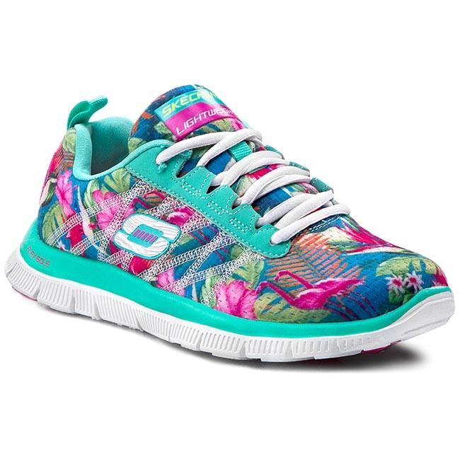 Shoes SKECHERS Floral Bloom 12061AQMT AquaMulti XreXb
