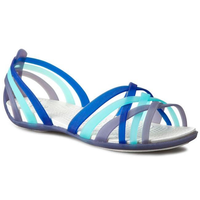 Sandals CROCS Huarache Flat Women 14121 Nautical NavyAqua