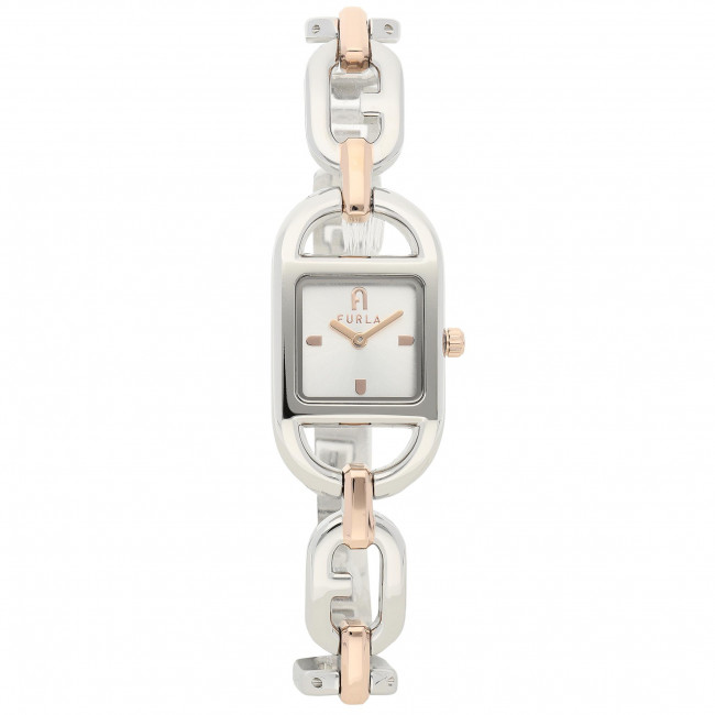 Wristwatch FURLA - Chain Square WW00016-R46000-0391S-1-003-20-CN-W Argento/Oro Rosa