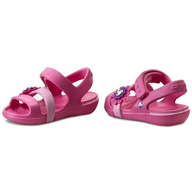 nowy wygląd buty jesienne urzędnik Sandals CROCS - Keeley Petal Charm Sandal Ps 14852 Neon Magenta/Carnation