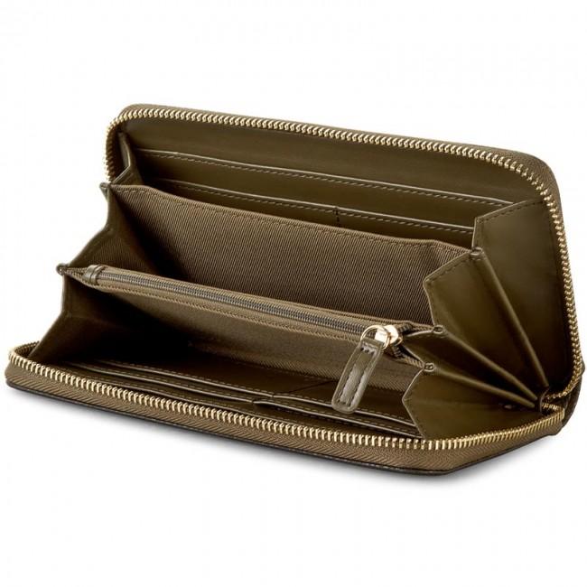 free shipping 4ce99 66000 Large Women's Wallet LIU JO - Ziop Around Grande Lu N66044 E0027 Green  Military/Bl