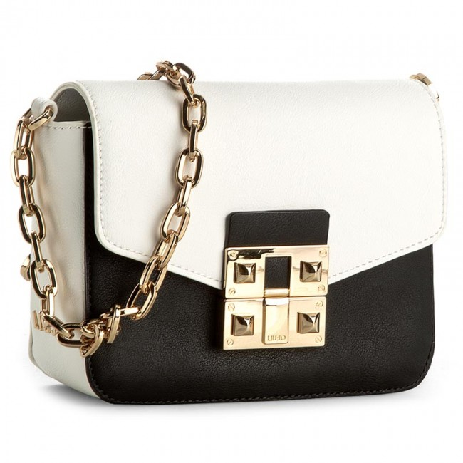 Handbag LIU JO - Tracollina Piccola N17128 E0025 Black/White 03Q54