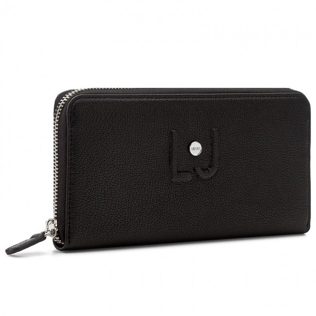 Large Women's Wallet LIU JO - Zip Around Grande C N17044 E0064 Nero 22222