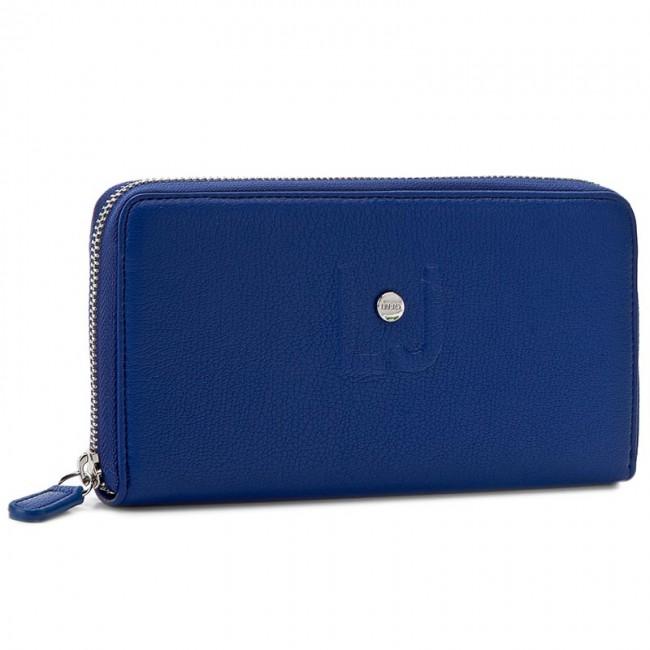 Large Women's Wallet LIU JO - Zip Around Grande C N17044 E0064 Monaco Blue 93964