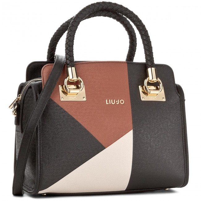 navegar por las últimas colecciones compras estilo popular Handbag LIU JO - Bauletto M Anna A67084 E0017 Black/True Ch/Gi ...