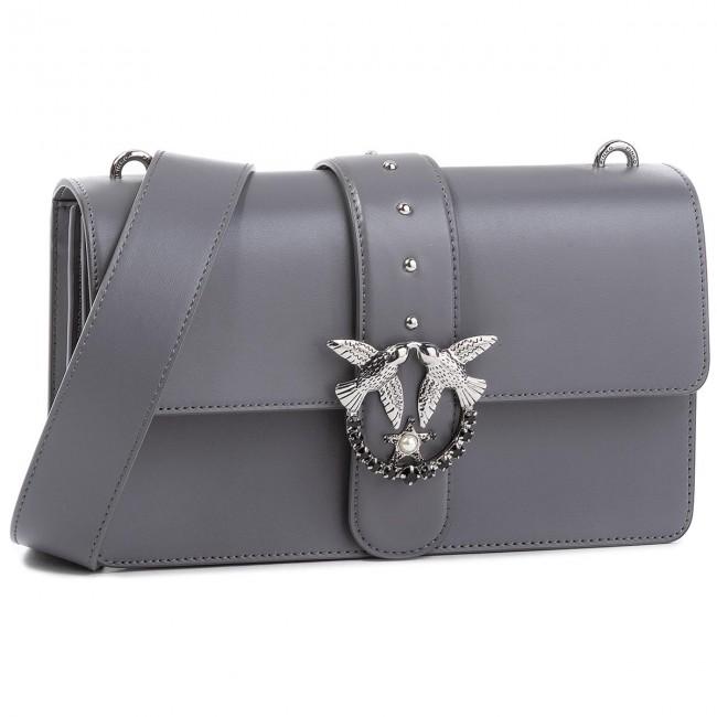 timeless design f28a0 da239 Handbag PINKO - Love Simply 6 Tracolla Al 18-19 1P2176 Y4YM Dark Grey I76