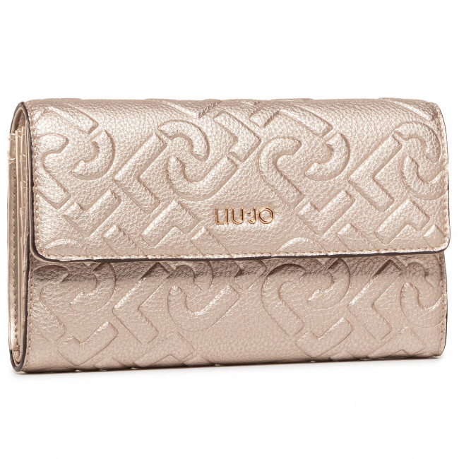 Large Women's Wallet LIU JO - Xl Bifold NF0147 E0538 Light Gold 90048