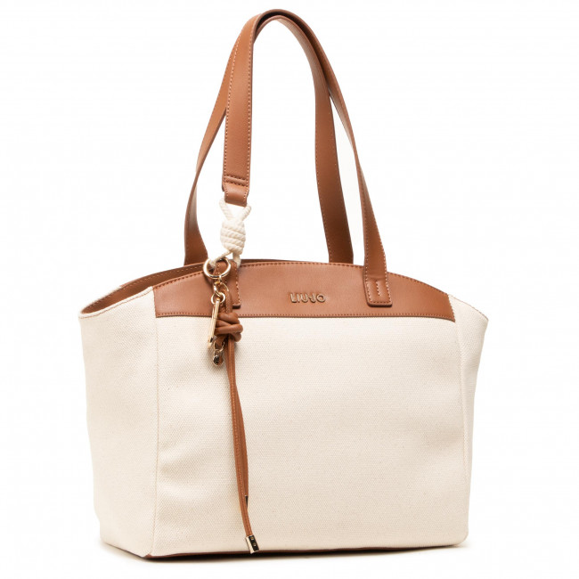 Handbag LIU JO - L Tote Paziente AA1296 T6948  Natural/ Deer T9864
