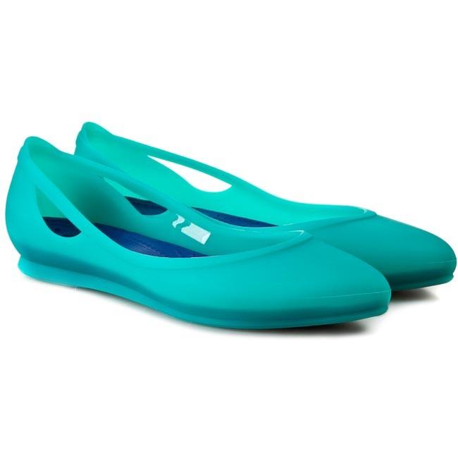 Flats Crocs Crocs Rio Flat W 16265 Tropical Teal