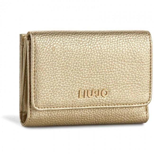 check out 66b7f a6657 Large Women's Wallet LIU JO - Portafoglio C/Patta A66127 E0086 Light Gold  04178