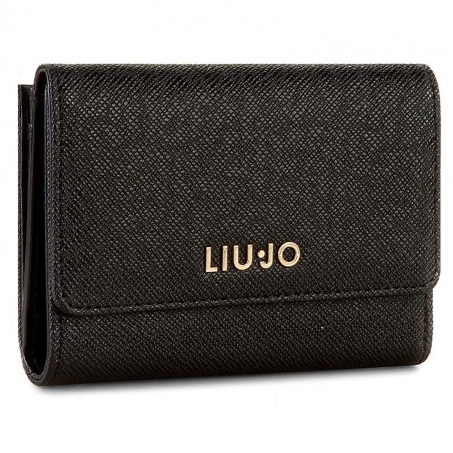 the latest e58aa 0625d Large Women's Wallet LIU JO - Portafoglio C/Patta A66127 E0086 Nero 22222