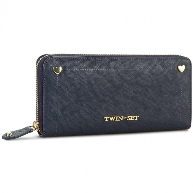 official photos f9b84 cad88 Large Women's Wallet TWINSET - Portafoglio Cuor AA6PZP Indaco 00384