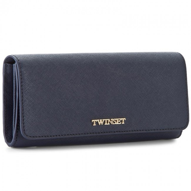 Large Women's Wallet TWINSET - Portafoglio AA7PD3 Blue Bla 00894