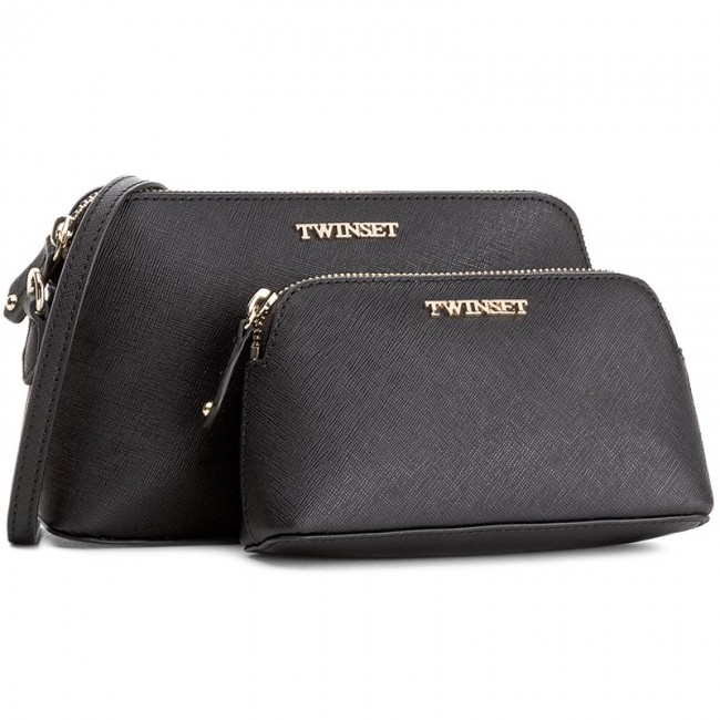 Handbag TWINSET - Set 2 Beauty Case AA7PDX Nero 00006
