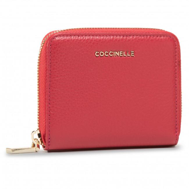 Small Women's Wallet COCCINELLE - GW5 Metallic Soft E2 GW5 11 A2 01 Cherry R62