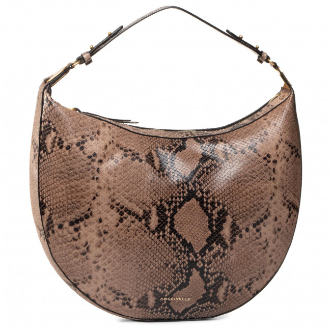 Handbag COCCINELLE - GH3 Anais Python E1 GH3 13 03 01 Taupe N75
