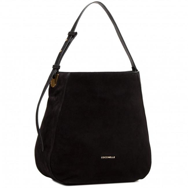 Handbag COCCINELLE - H62 Lea Suede E1 H62 13 01 01 Noir 001