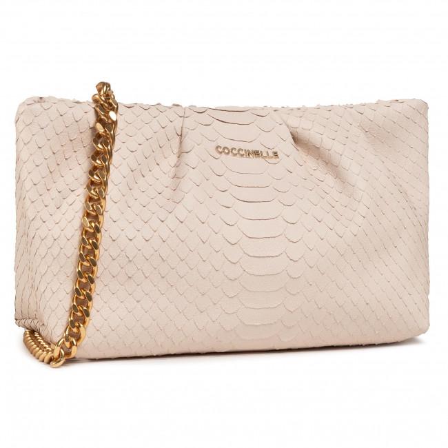 Handbag COCCINELLE - H89 Ophelie Python Lulula E1 H89 19 02 01 Lambskin White N26