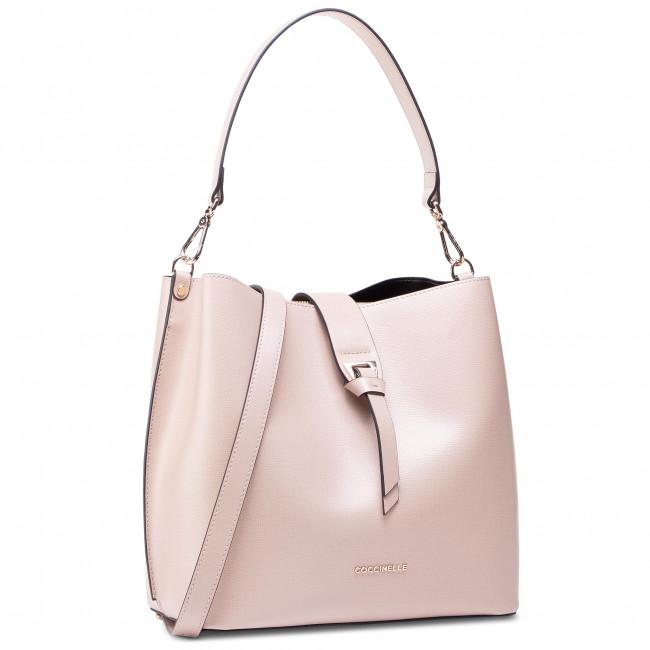 Handbag COCCINELLE - H59 Alba Textured E1 H59 13 01 01 Powder Pink N80